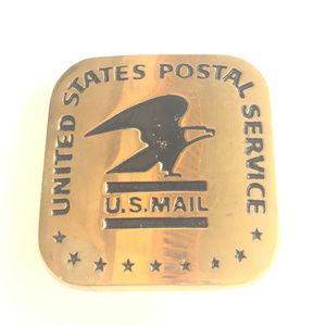 Other - Vintage Original Brass USPS US Mail Belt Buckle